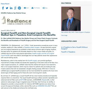 Pasadena Plastic Surgeon Discusses Surgical and Non Surgical Facelift.